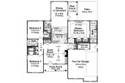Southern Style House Plan - 3 Beds 2 Baths 1610 Sq/Ft Plan #21-203 Floor Plan - Main Floor