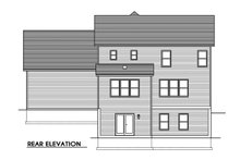House Plan Design - Traditional Exterior - Rear Elevation Plan #1010-240