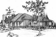 Modern Style House Plan - 2 Beds 2 Baths 1735 Sq/Ft Plan #78-207 Exterior - Front Elevation