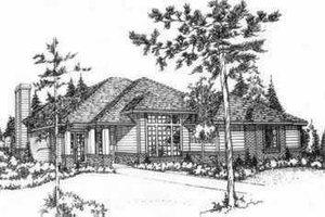 Modern Exterior - Front Elevation Plan #78-207