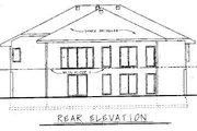 European Style House Plan - 3 Beds 2 Baths 2167 Sq/Ft Plan #20-743 Exterior - Rear Elevation