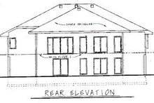 European Exterior - Rear Elevation Plan #20-743