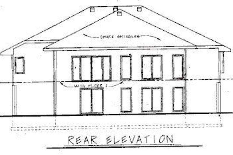 European Exterior - Rear Elevation Plan #20-743 - Houseplans.com