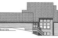 Dream House Plan - Traditional Exterior - Rear Elevation Plan #70-487