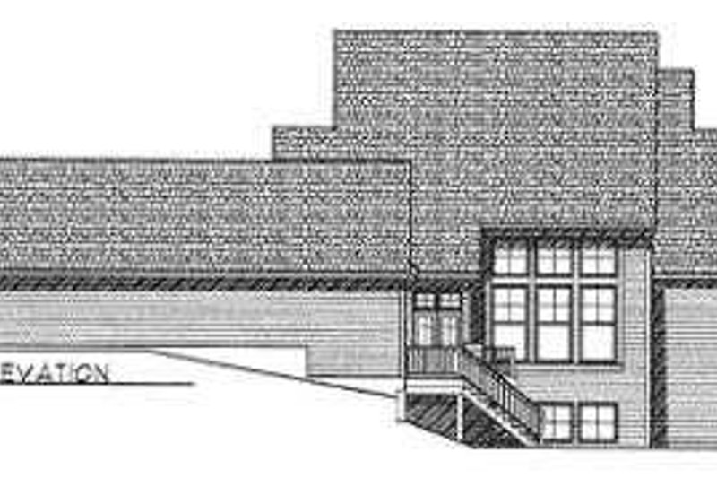 Traditional Exterior - Rear Elevation Plan #70-487 - Houseplans.com