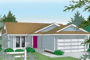 Traditional Style House Plan - 2 Beds 2 Baths 1084 Sq/Ft Plan #100-105 Exterior - Front Elevation