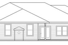 Prairie Exterior - Rear Elevation Plan #124-847