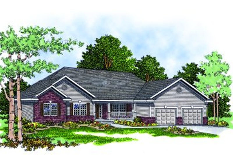 Architectural House Design - Traditional Photo Plan #70-243