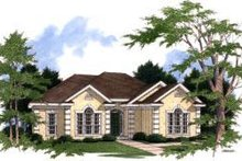 European Exterior - Front Elevation Plan #37-145