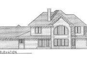 Modern Style House Plan - 4 Beds 3.5 Baths 3050 Sq/Ft Plan #70-479 Exterior - Rear Elevation