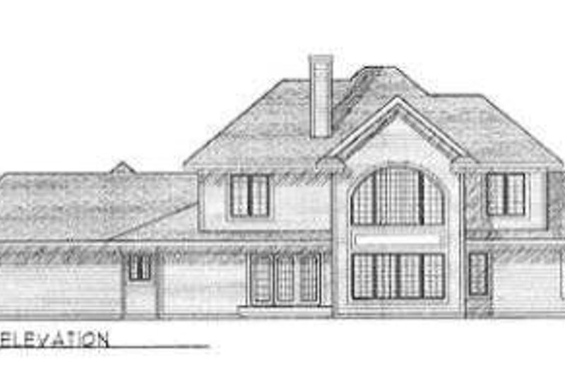 Modern Exterior - Rear Elevation Plan #70-479 - Houseplans.com