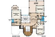 Mediterranean Style House Plan - 4 Beds 5.5 Baths 4926 Sq/Ft Plan #27-433 Floor Plan - Upper Floor Plan