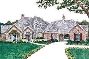 European style home, elevation