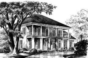 Colonial Exterior - Front Elevation Plan #137-194