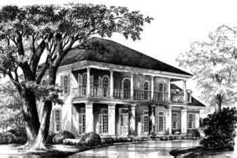 Home Plan - Colonial Exterior - Front Elevation Plan #137-194