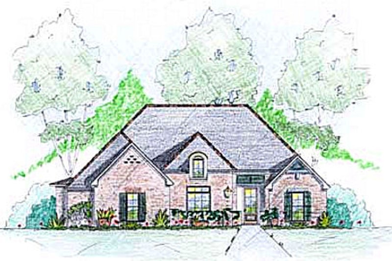 European Style House Plan - 3 Beds 2.5 Baths 2273 Sq/Ft Plan #36-493 Exterior - Front Elevation