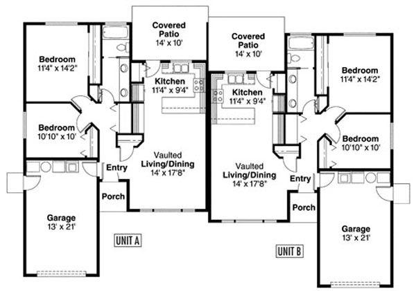 Floor Plan - Main Floor Plan Plan #124-806