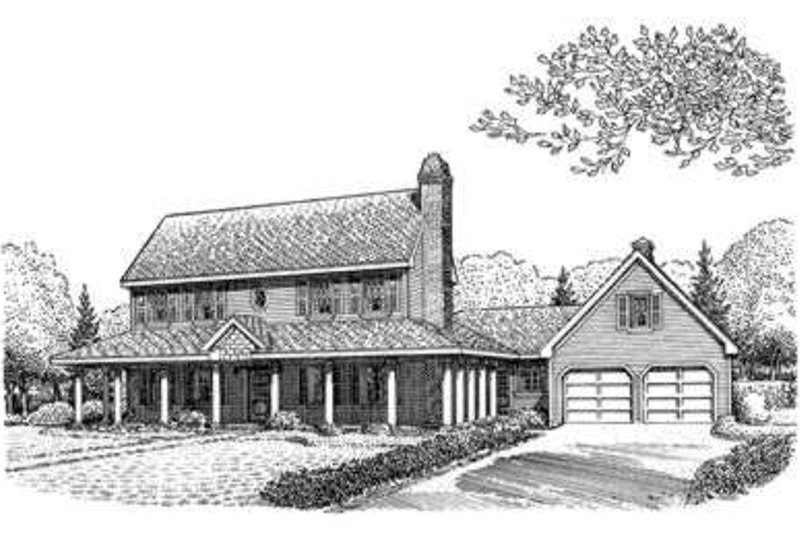 Country Exterior - Front Elevation Plan #410-203 - Houseplans.com