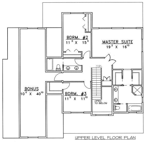 Bungalow Floor Plan - Upper Floor Plan Plan #117-540