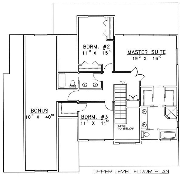Bungalow Floor Plan - Upper Floor Plan Plan #117-540