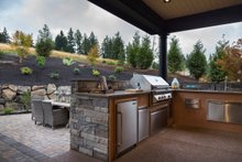 House Plan Design - Outdoor Kitchen - 4900 square foot Colonial home