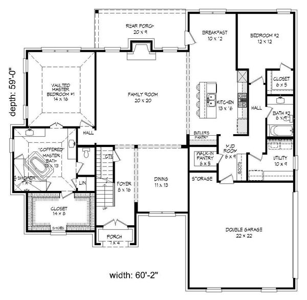 Country Floor Plan - Main Floor Plan Plan #932-277