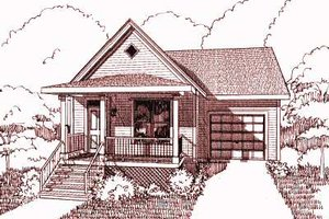Cottage Exterior - Front Elevation Plan #79-113