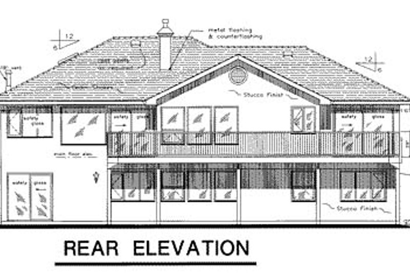 Ranch Exterior - Rear Elevation Plan #18-159 - Houseplans.com