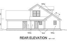 Craftsman Exterior - Rear Elevation Plan #513-2054