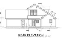House Plan Design - Craftsman Exterior - Rear Elevation Plan #513-2054