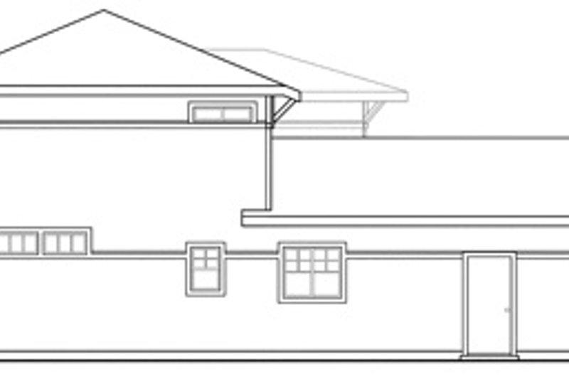 Traditional Exterior - Rear Elevation Plan #124-465 - Houseplans.com