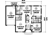 Traditional Style House Plan - 2 Beds 1 Baths 1002 Sq/Ft Plan #25-4454 Floor Plan - Main Floor Plan