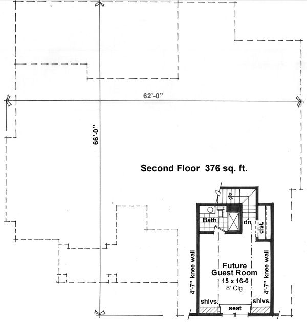 Craftsman Floor Plan - Upper Floor Plan Plan #51-520