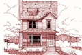 Country Style House Plan - 3 Beds 2.5 Baths 1280 Sq/Ft Plan #79-173 Exterior - Front Elevation