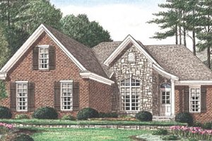 Traditional Exterior - Front Elevation Plan #34-129