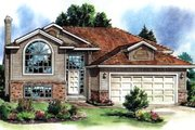 Contemporary Style House Plan - 3 Beds 2 Baths 1662 Sq/Ft Plan #18-305 Exterior - Front Elevation