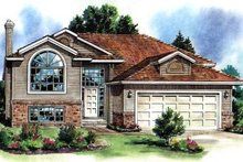 House Blueprint - Contemporary Exterior - Front Elevation Plan #18-305