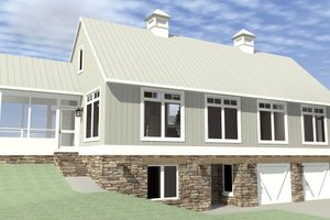 Farmhouse Exterior - Front Elevation Plan #64-215