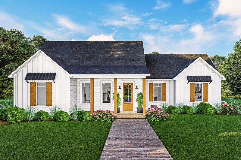 Architectural House Design - Farmhouse Exterior - Front Elevation Plan #406-9667