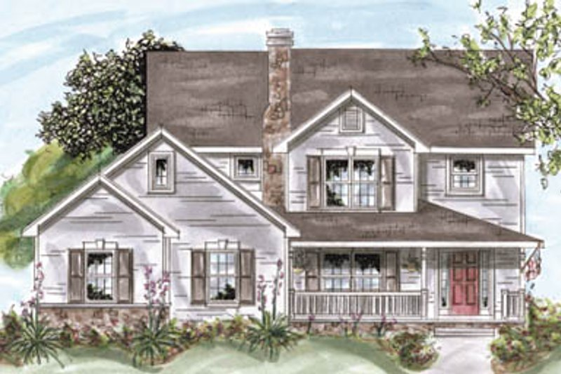 Traditional Exterior - Front Elevation Plan #20-1289