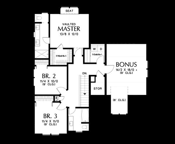 Dream House Plan - Contemporary Floor Plan - Upper Floor Plan #48-1033