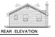 Ranch Style House Plan - 2 Beds 1 Baths 849 Sq/Ft Plan #18-161 Exterior - Rear Elevation