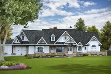 House Plan Design - Craftsman Exterior - Front Elevation Plan #54-386