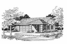 House Blueprint - Traditional Exterior - Front Elevation Plan #72-259