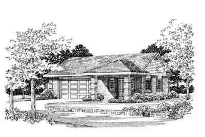 Traditional Exterior - Front Elevation Plan #72-259 - Houseplans.com