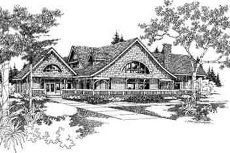 Modern Exterior - Front Elevation Plan #60-601 - Houseplans.com