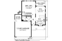 Craftsman Floor Plan - Main Floor Plan Plan #70-1043
