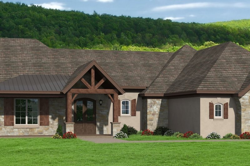 Dream House Plan - Traditional Exterior - Front Elevation Plan #932-401