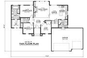 European Style House Plan - 3 Beds 2 Baths 1632 Sq/Ft Plan #51-240 Floor Plan - Main Floor Plan