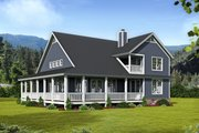 Country Style House Plan - 3 Beds 2.5 Baths 2095 Sq/Ft Plan #932-33 Exterior - Rear Elevation